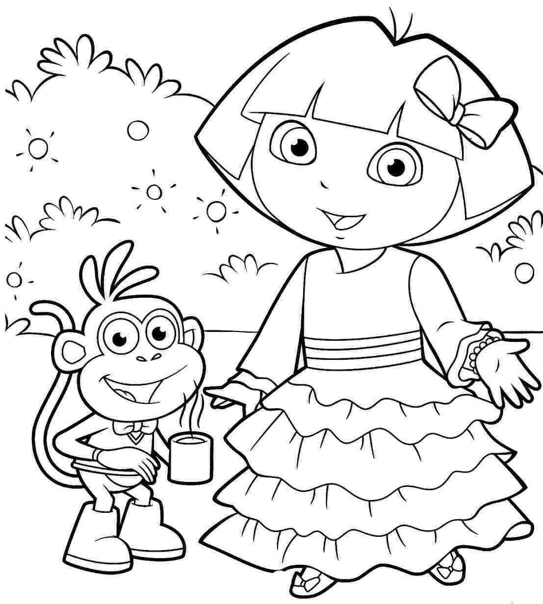 Printable Dora Coloring Book