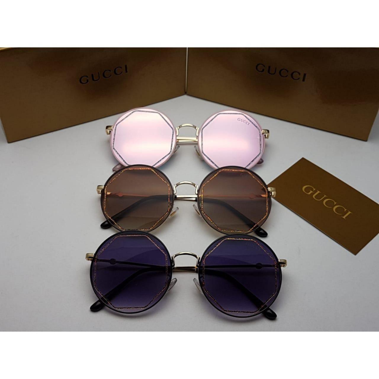 نظارات قوتشي نسائيه Gucci بدرجه اولى مع جميع ملحقاتها و بنفس اسم الماركه هدايا هنوف Round Sunglasses Sunglasses Oval Sunglass