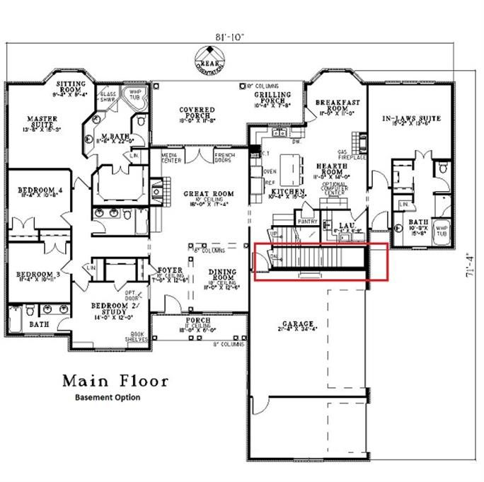 5 Bedroom Ranch House Plan With In Law Suite 2875 Sq Ft House Plans One Story House Plans In Law Suite