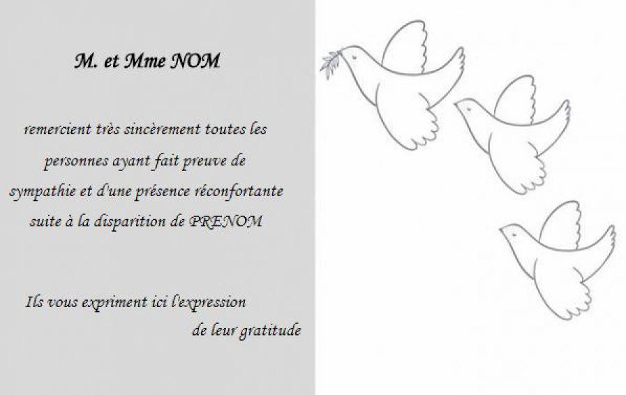 Modele Carte De Remerciement Deces Deuil Gratuit Avec Texte Remerciement Deuil Et C Texte Remerciement Carte De Remerciement Deces Remerciements Condoleances