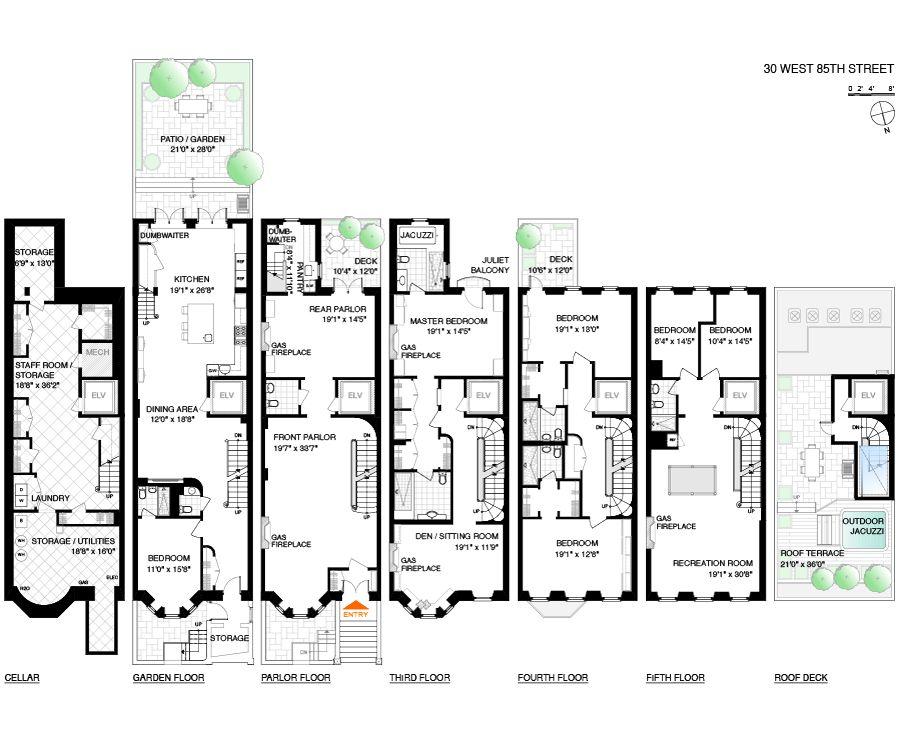 7883123 900 746 Pixels Apartment Floor Plans New York Townhouse House Floor Plans