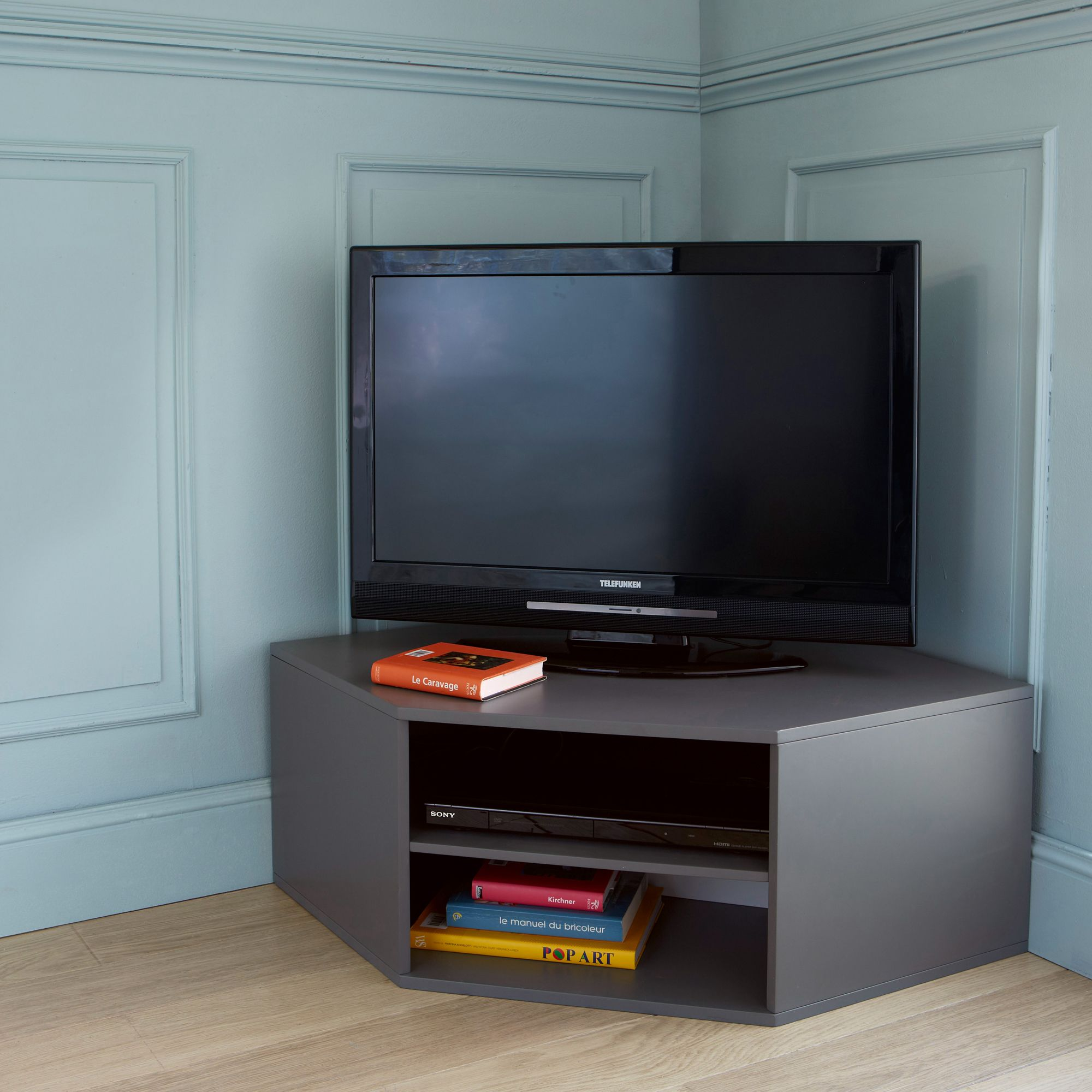 Meuble Tv D Angle Kolorcaz 3 Suisses Funitures Pinterest  # Tele En Angle Deco Contemporaine