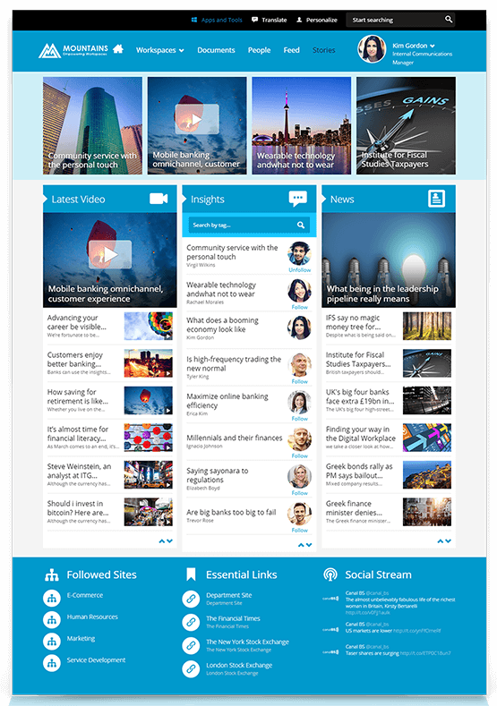Unily Intranet Home Page Part 98