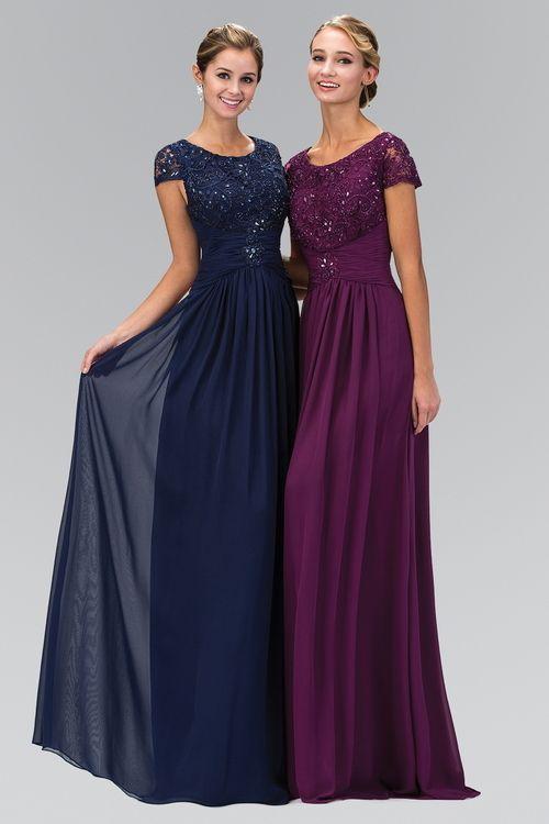 187bf3125fb Buy the Embellished Cap Sleeve Scoop Neck Dress GL1398 by Elizabeth K at  CoutureCandy.com