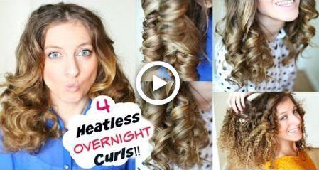 4 Overnight No Heat Curls | Overnight Heatless Curl Methods | Braidsandstyles12 #sockcurls