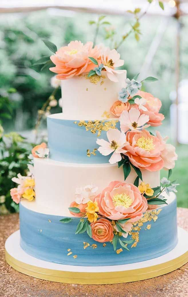 The 50 Most Beautiful Wedding Cakes – Baby Blue & White wedding cake 50 pretty and unique wedding cakes, wedding cake ideas, wedding cake , wedding cake ideas 2019, wedding cake ideas rustic, unique wedding cake designs, luxury wedding cake ideas, elegant wedding cake, modern wedding cake designs, wedding cake pictures gallery