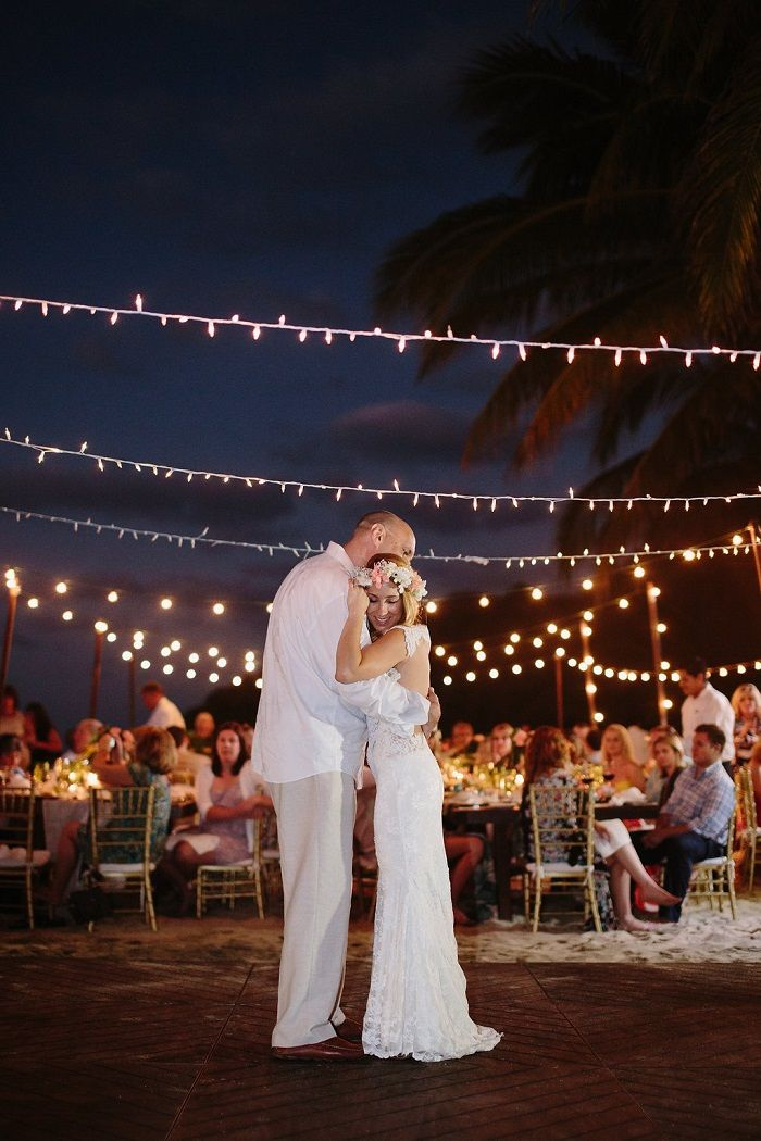 Wedding Reception on the beach | Father and daughter dance | Fab Mood
