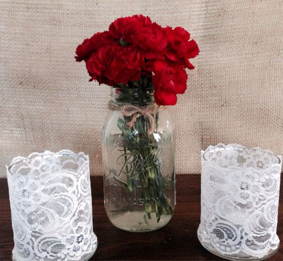 Set of 3 centerpiece by CountryCliche on Etsy
