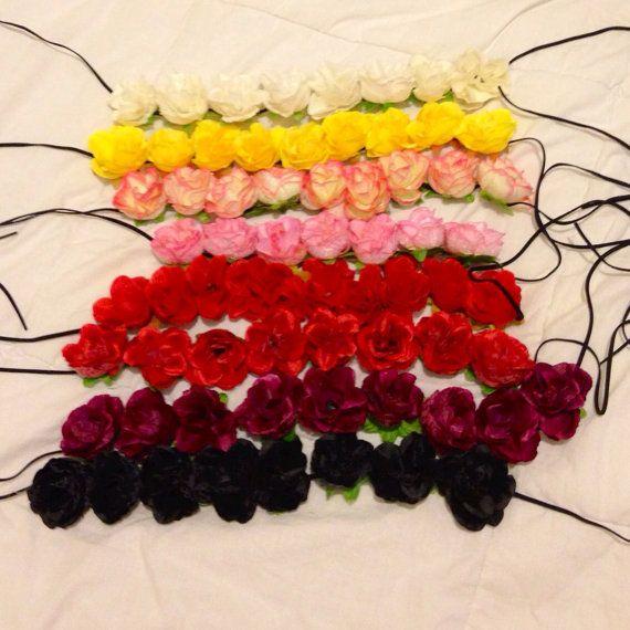 Premade Rose Flower Crown for Festivals EDC EDM Raves by LaLaNala, $15.00
