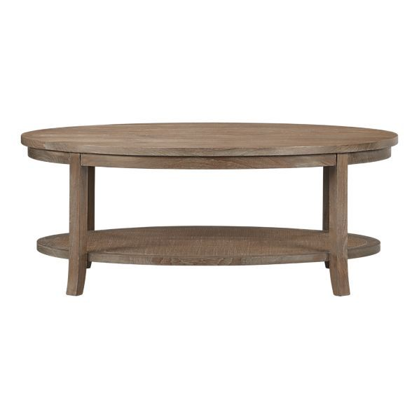 Blake Grey Wash Oval Coffee Table From Crate And Barrel