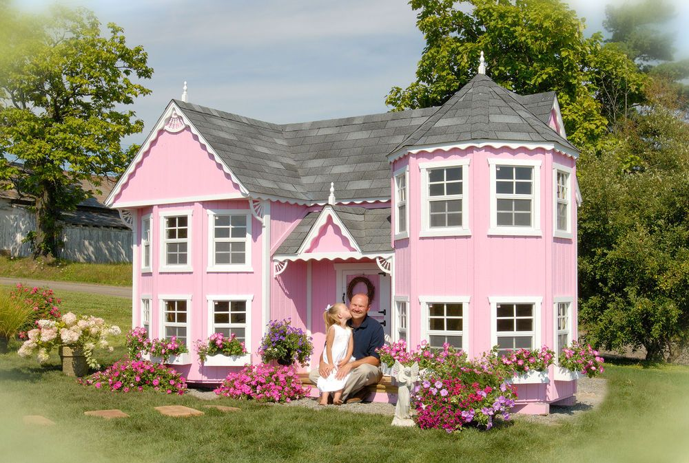 8 X 16 Luxury Cottage Kids Outdoor Wooden Playhouse Mini House