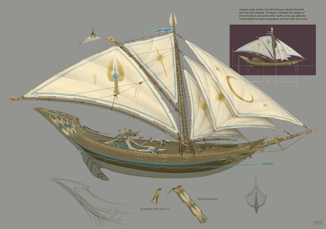 Jonathan Kirtz | Elves | High elf, Elf city, Sailing ships