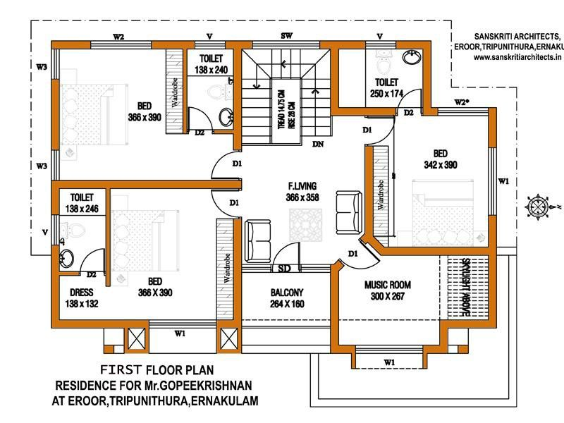 kerala house plans estimate sq ft home design floor plans