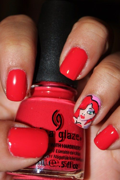 Who Framed Roger Rabbit \'Jessica Rabbit\' Nails | Beauty | Pinterest ...
