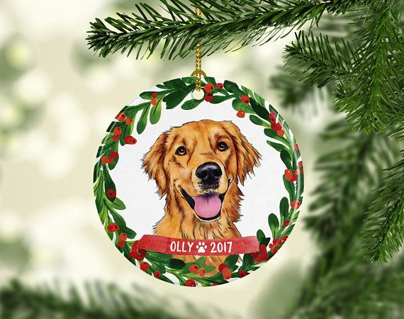 Dog Ornament Golden Retriever Ornament Pet Gift Dog Christmas