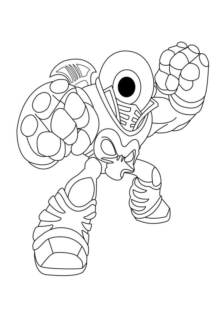 Free Printable Skylander Giants Coloring Pages For Kids Skylanders