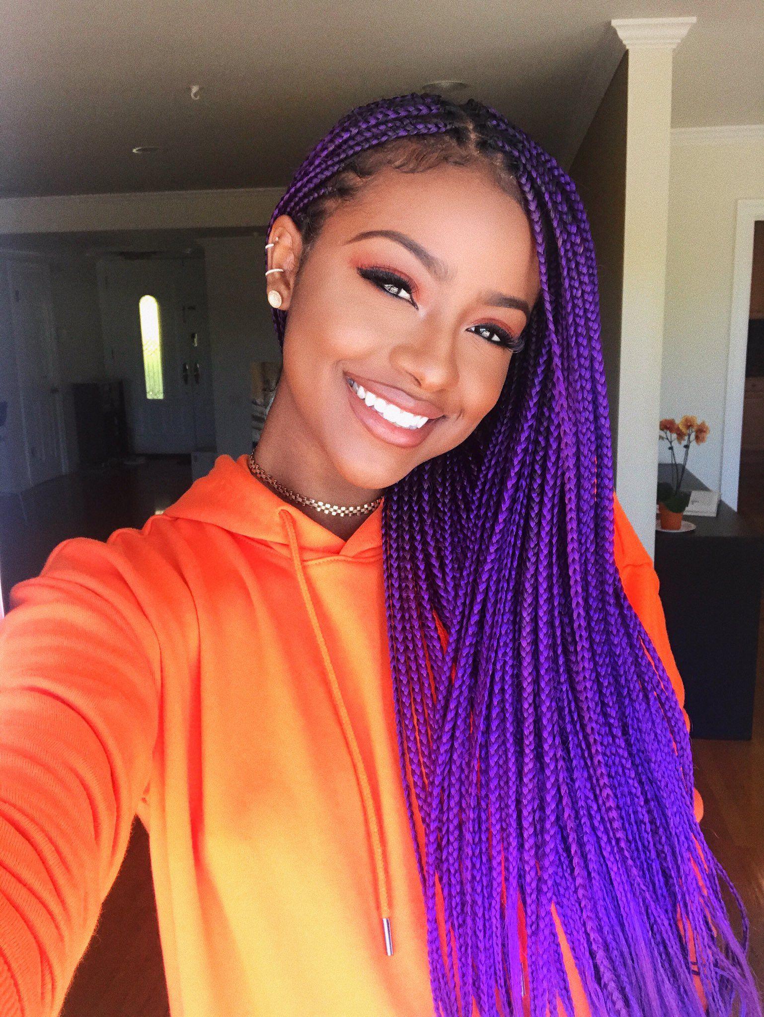 27++ Light purple box braids inspirations