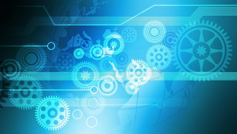 Innovation Computer Data Cogs Technology Banner Background Vector