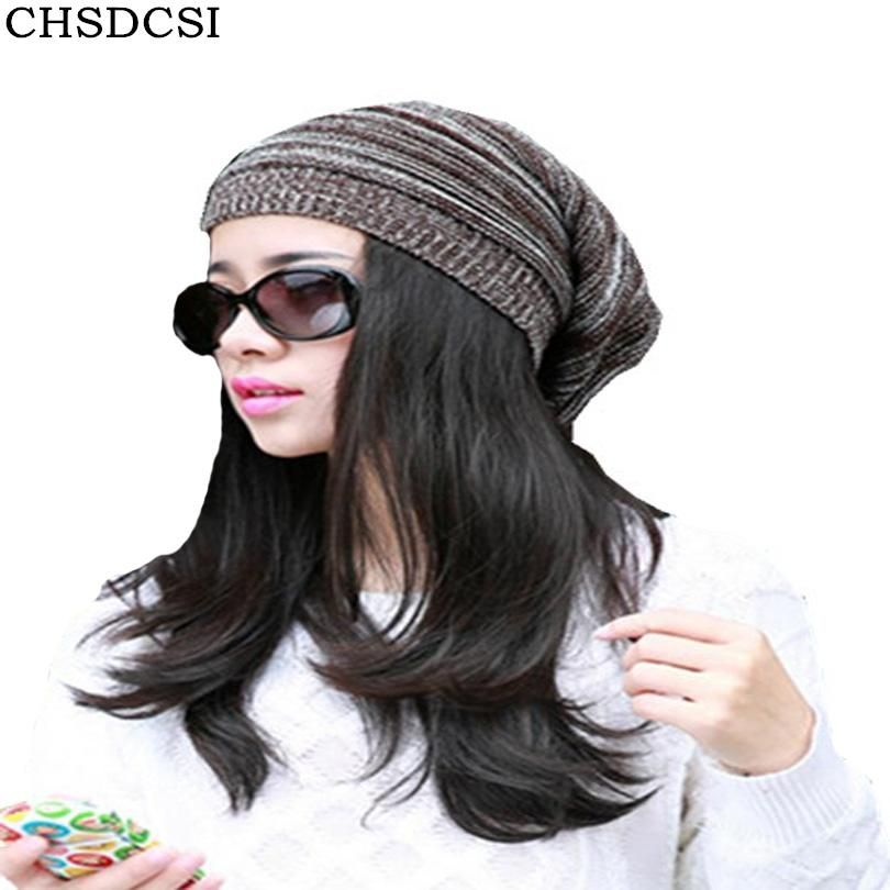 e84db35bd56 CHSDCSI Spring Men Women Knitted Winter Caps Chapeu Casual Beanies For  Solid Hip-hop Slouch