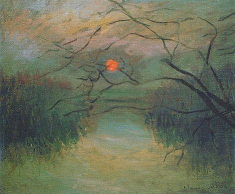 Claude Monet, Sunset (coucher de soleil) - 1880