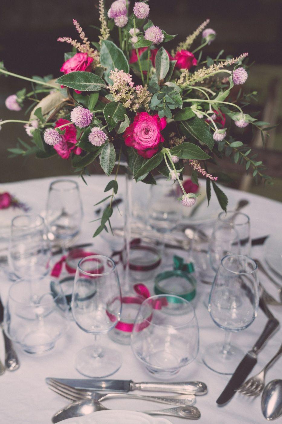 Automn Wedding Centerpiece - Centre de table d'Automne : Lily Paloma - Photographe : La Femme Gribouillage