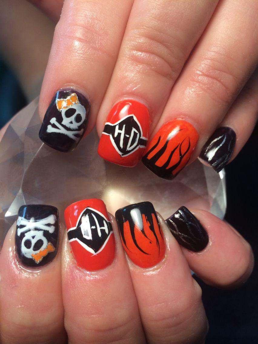 Harley Davidson Nail Art Skull Nails Nails Nail Art