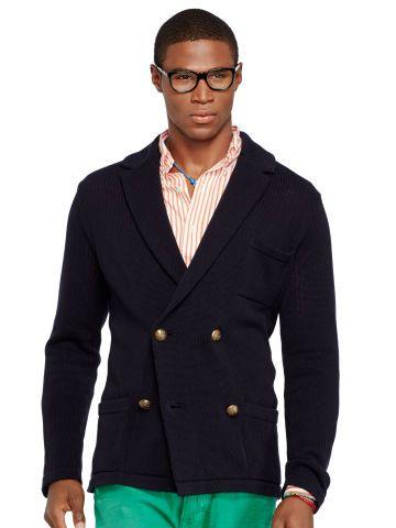 Double Breasted Sweater Blazer Polo Ralph Lauren Cardigans Ralphlauren Com