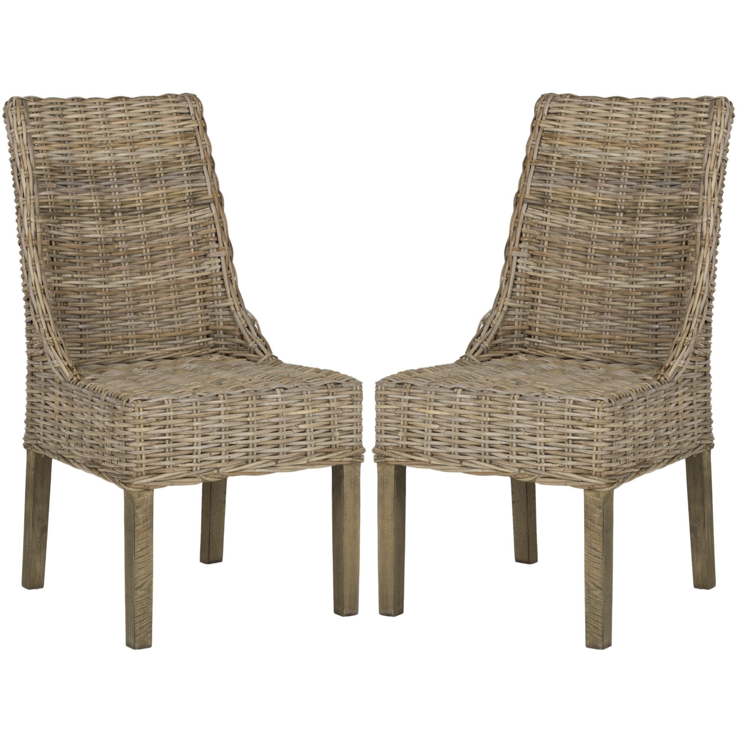 Bring A Touch Of The Islands To Life In Your Dining Room With This Pair Natural Wicker Arm Chairs These Pretty Have An Elegant Shape And