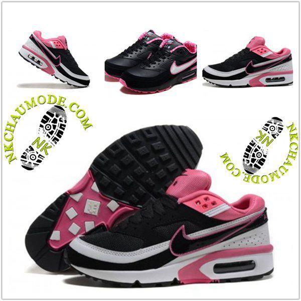 chaussures de séparation 079ec e4577 shopping nike air max bw noir rose 81d82 6cda1