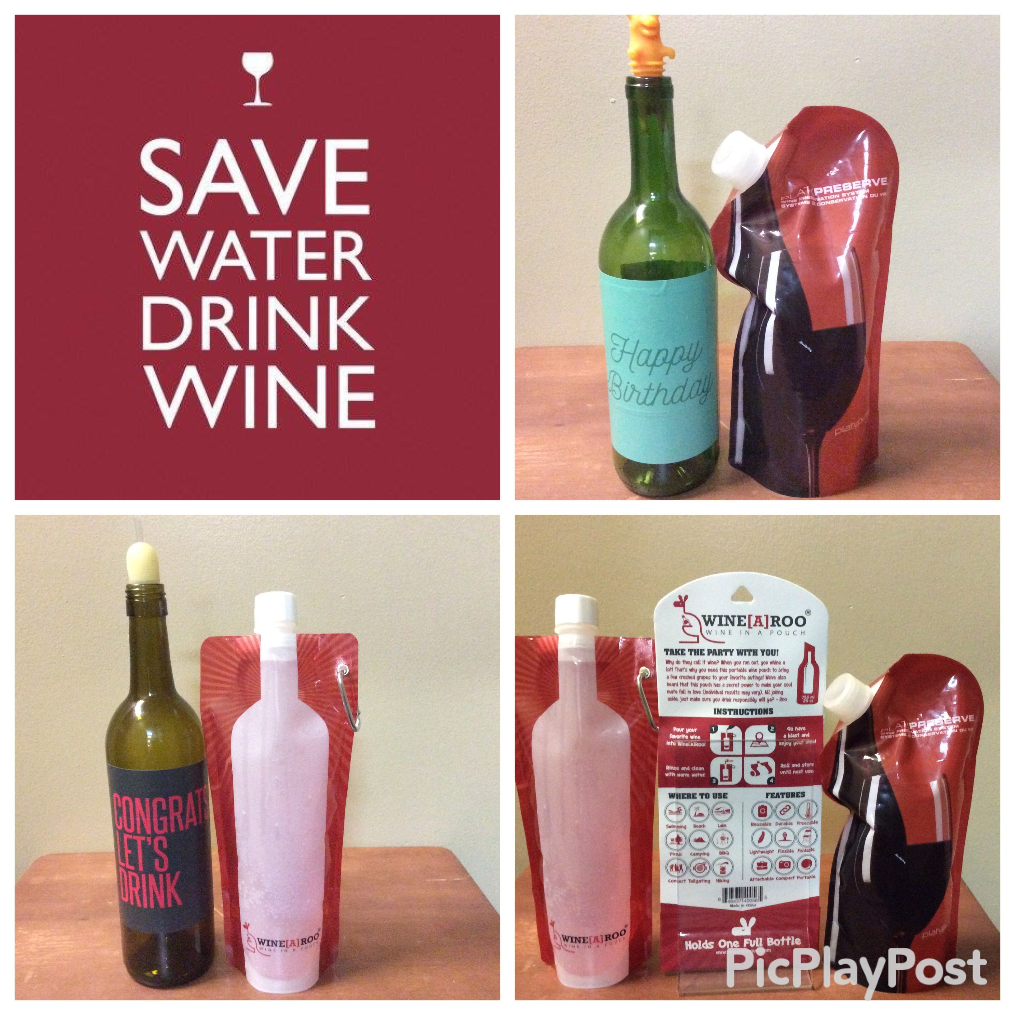 Pin By Danette S Urban Oasis On Gifts Duo Under 30 00 Happy Wine Birthday Wine Save Water Drink