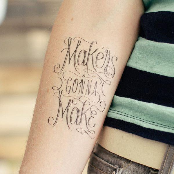 Typographie Tatouage Lettrage Phrase Avant Bras Homme Hy6r4ek