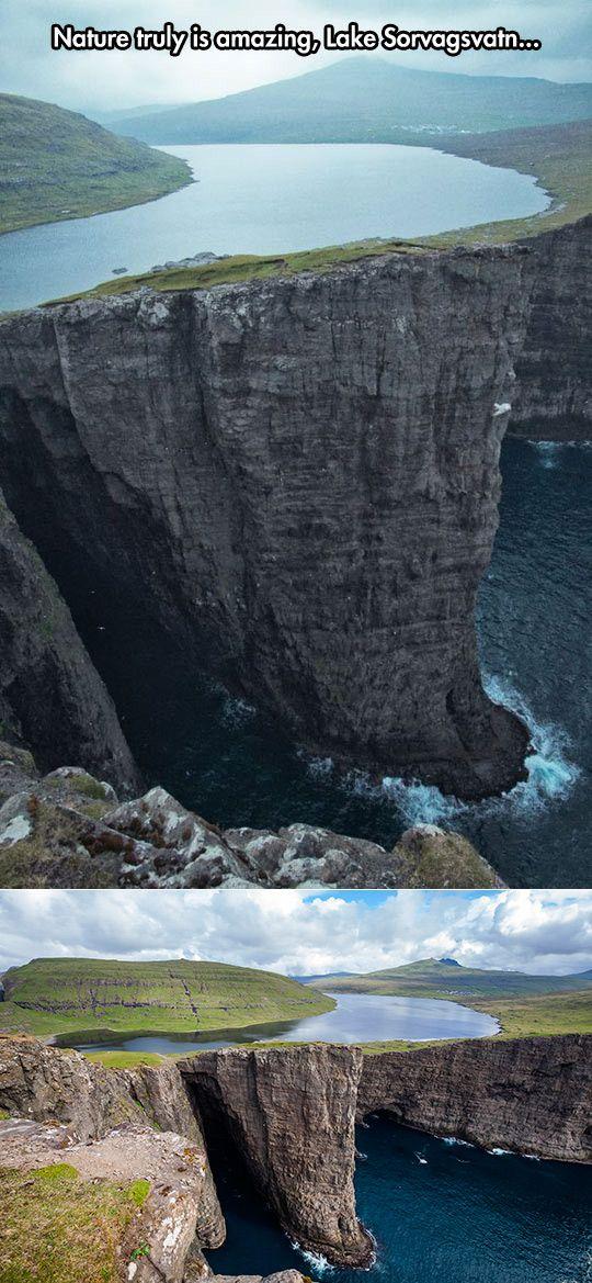 Lake Sorvagsvatn, Faroe Islands.