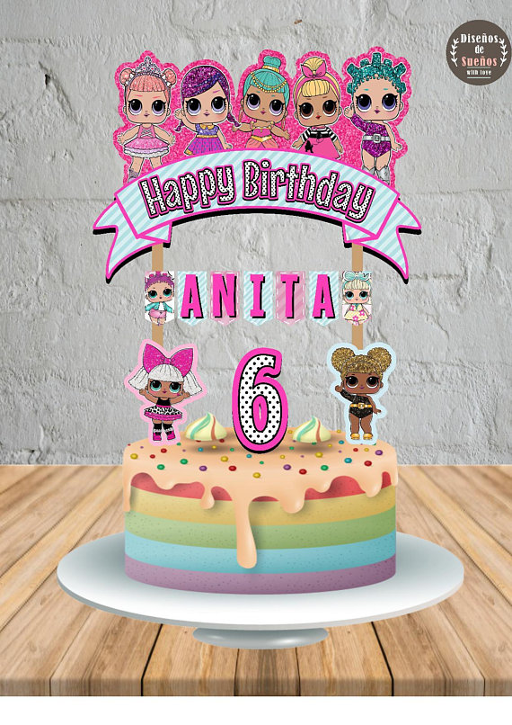 Lol Surprise Cake Topper Lol Surprise Birthday Lol Surprise Party Custom And Printable Topper Lol Surprise Ba Lol Doll Cake Birthday Surprise Surprise Cake