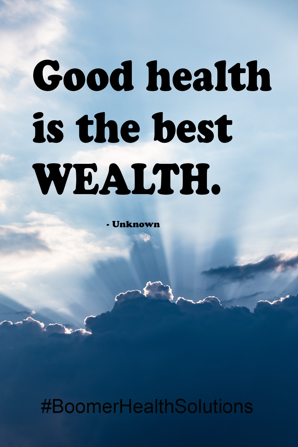 Good health is the best Wealth. Healthy quotes