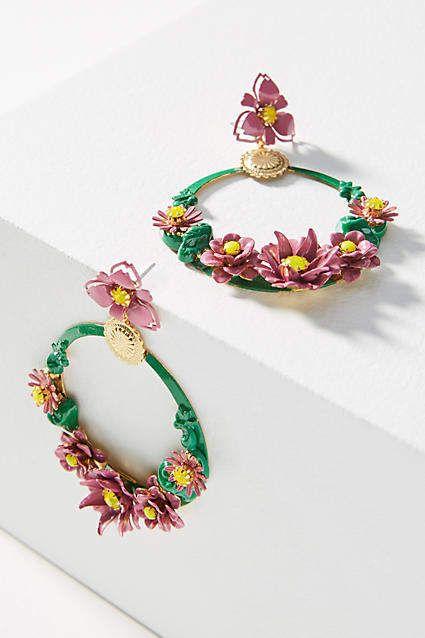 Elizabeth Cole Abbot Wreath Drop Earrings A4v5TOZ