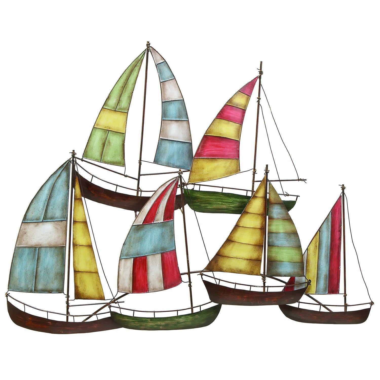 Woodland Imports Metal Sailing Boat Decor A Perfect Nautical