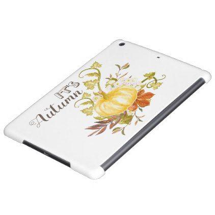 Autumn Season Pumpkin and Leaves Case For iPad Air | Zazzle.com