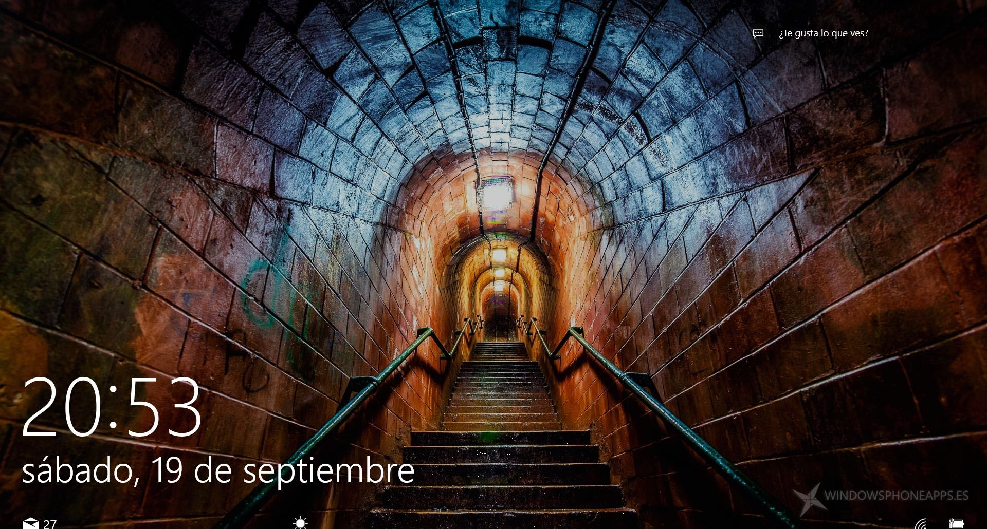 Underground stairs, unknown location, Windows 10 Spotlight