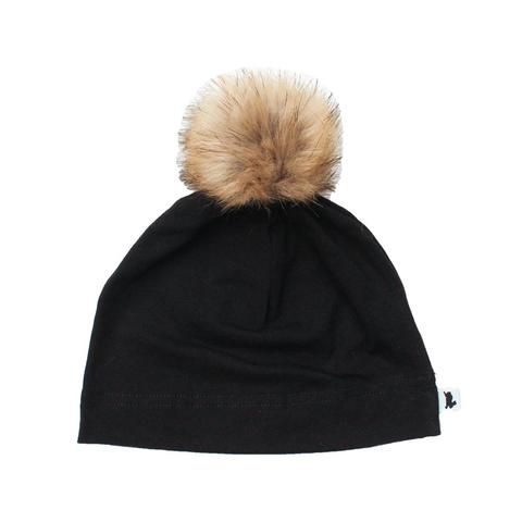 46436515b2d Pom Pom Beanie - Black - Little   Lively - 1