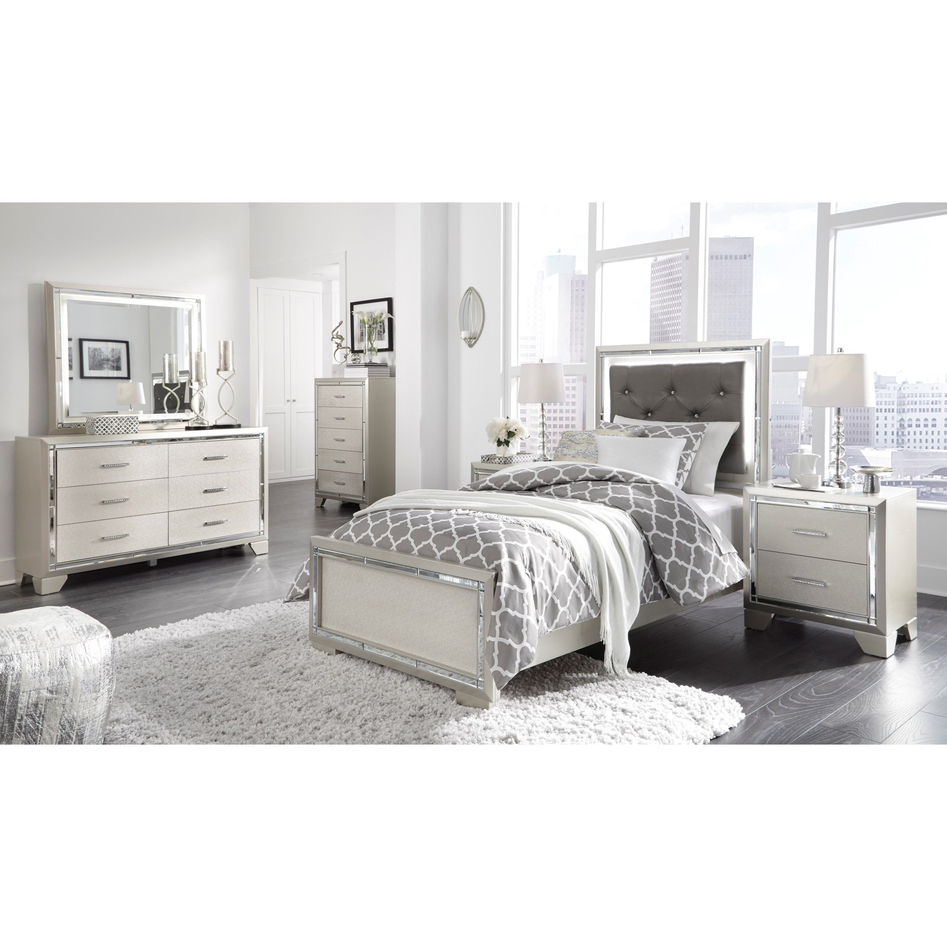 Lonnix Twin Bed Room Group By Signature Design By Ashley Mattress Furniture Bedroom Panel Furniture