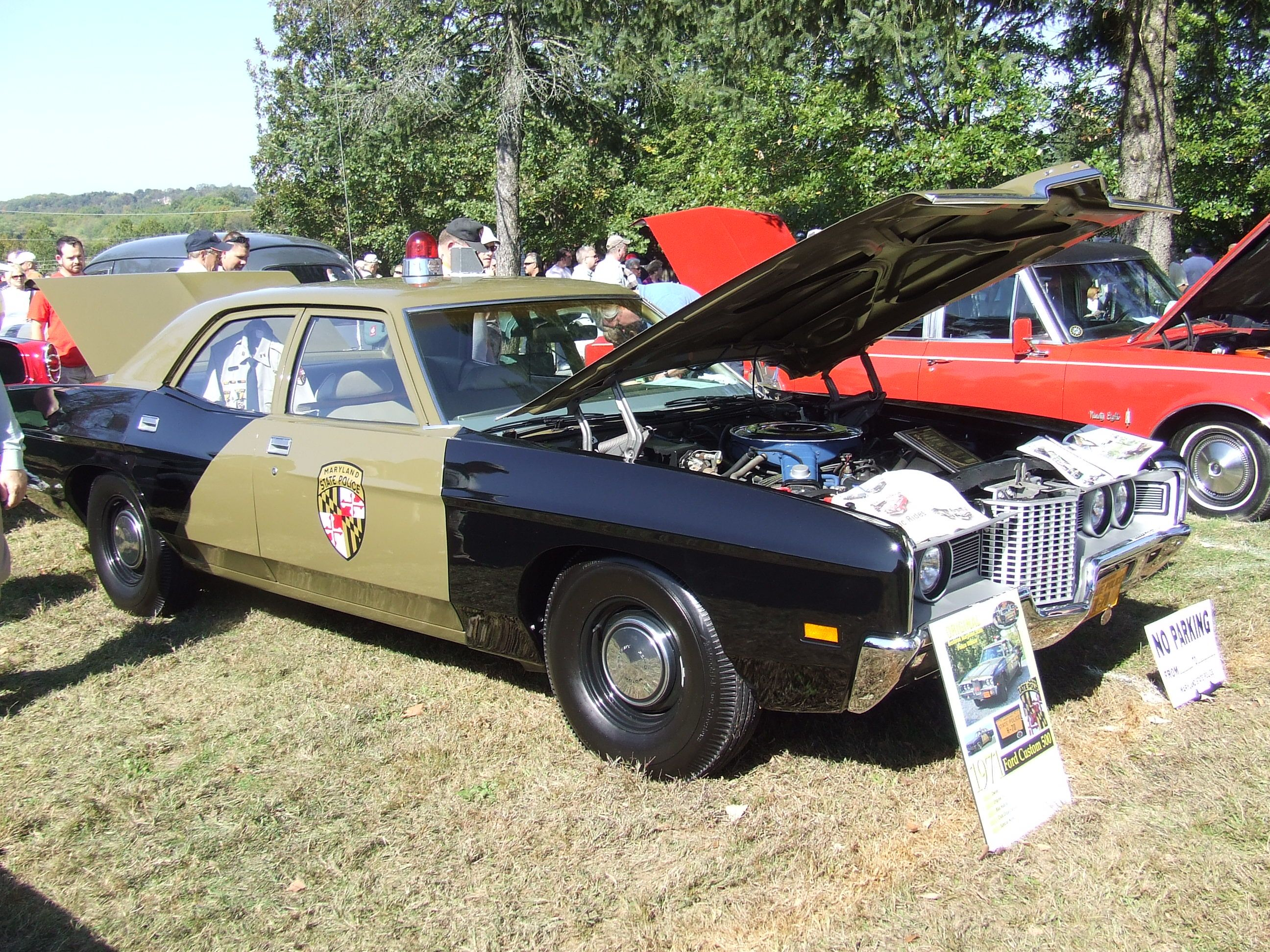 1971 Ford Custom 500 Maryland State Police Old Police Cars Police Cars Emergency Vehicles