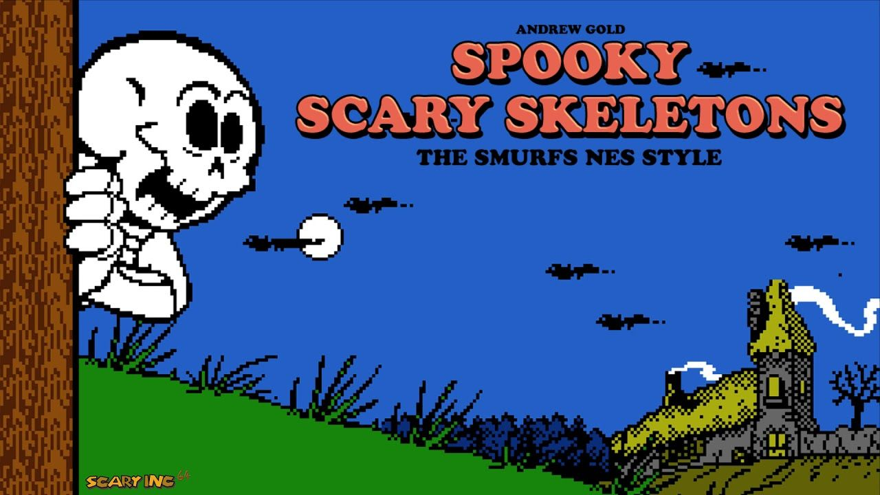 Spooky Scary Skeletons - The Smurfs NES Style Cover