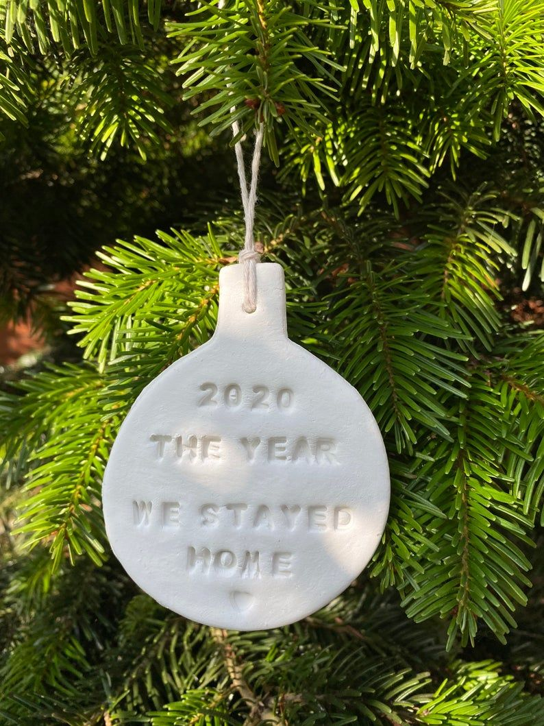 2020 Commemorative Christmas Ornament Clay Christmas