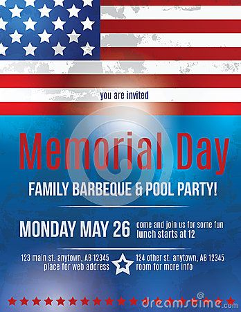 Memorial Day Flyer Template  Image   Templates