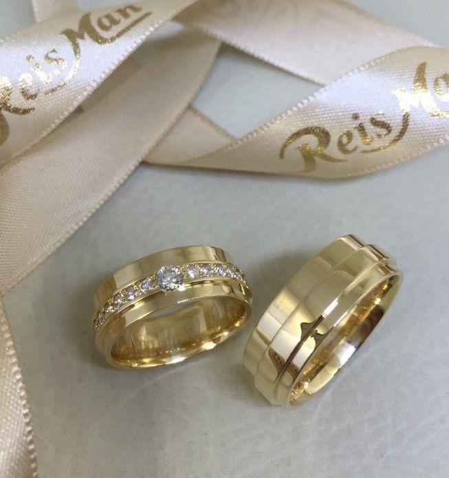 Alianças Par Perfeito ♥ Casamento e Noivado em Ouro 18K - Reisman 77a49f223d