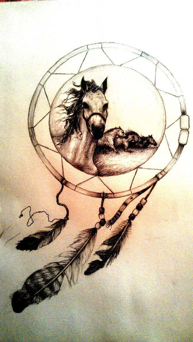 wolf dreamcatcher drawing related - photo #27
