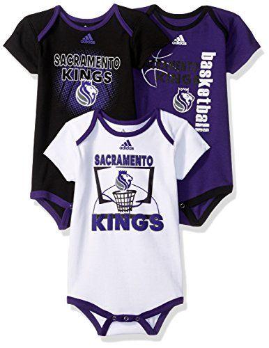 1f0a3f29ca3 NBA Infant Sacramento Kings 3 Pt. Bodysuit Set, 24 Months, Regal Purple  https