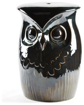 Owl Garden Stool Traditional Outdoor Stools And