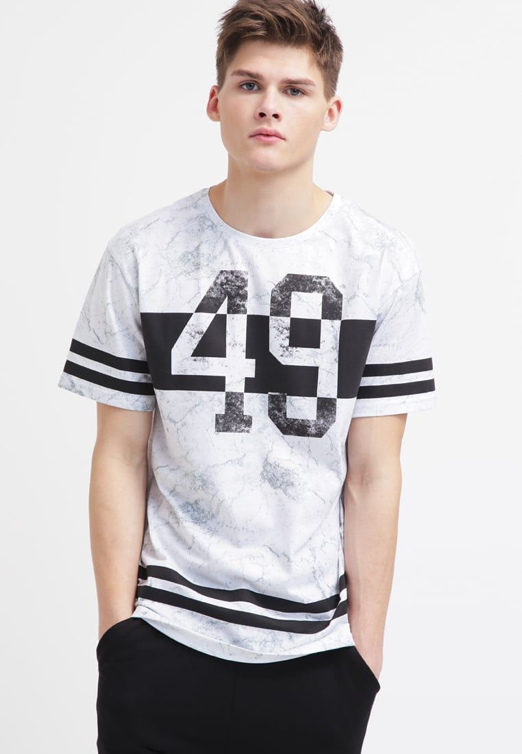 4ba62c598725 YOUR TURN Camiseta print - white/black - Zalando.es | shirt ...