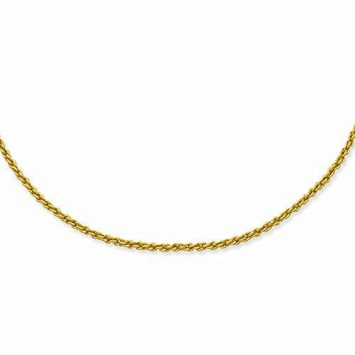 18in Gold-plated 2mm French Rope Chain, Best Quality Free Gift Box Satisfaction Guaranteed